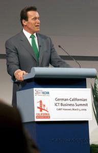Schwarzenegger auf der CeBIT (2)