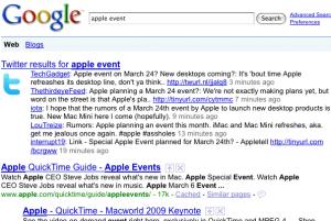 Twitter Plugin für Google Suche