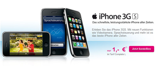 iPhone 3GS bei T-Mobile