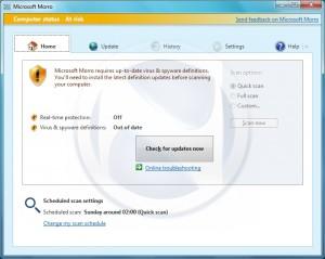 Microsoft Morro Virenscanner Screenshot (2)