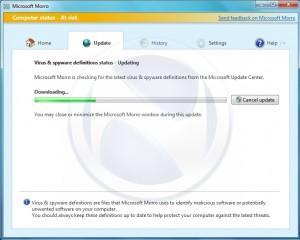 Microsoft Morro Virenscanner Screenshot