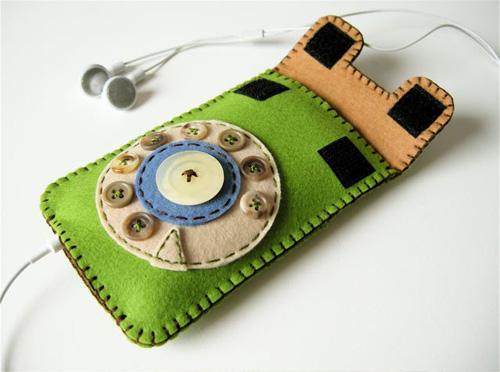 Retro iPhone-Tasche mit Wählscheibe