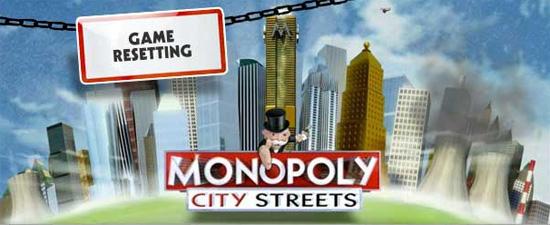 Monopoly City Streets Neustart