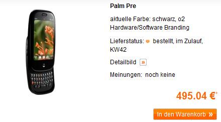 Palm Pre bei simyo