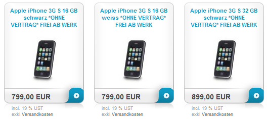 iPhone 3GS bei Simyo