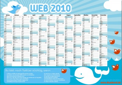 Twitter-Wandkalender 2010