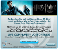 Harry Potter und der Halbblutprinz Live-Screening