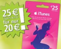 25€ iTunes Karte bei Rewe