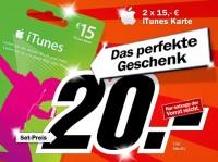 Media Markt Preisansage: 2x 15€ iTunes Karte für 20€
