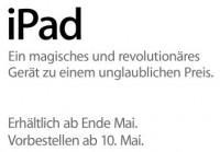 iPad vorbestellen