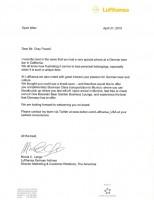 Lufthansa USA Offener Brief iPhone 4G