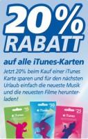 20% Rabatt auf iTunes Karten bei real
