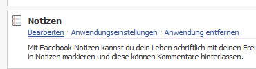 Facebook Notizen
