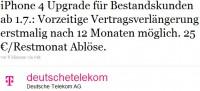 Telekom Upgrade Anytime für iPhone 4