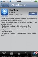Dropbox 1.3 für iOS