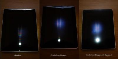 iPad Display Schutzfolie Artwizz ScratchStopper & ScratchStopper Anti-Fingerprint im Vergleich (02)
