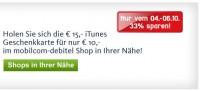 iTunes Gutscheine bei mobilcom-debitel