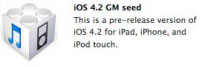 iOS 4.2 Golden Master