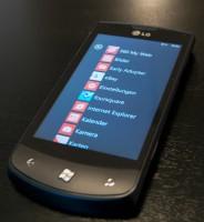 LG E900 Optimus 7 Anwendungsmenü