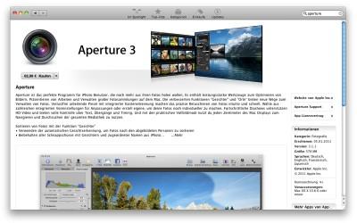 Aperture 3 im Mac App Store