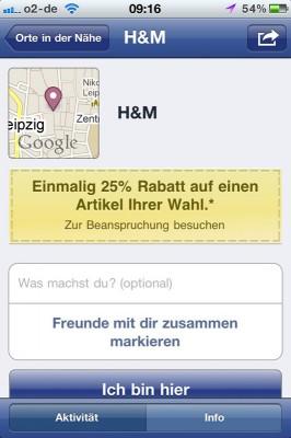Facebook Angebote: H&M
