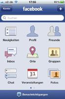 Facebook Orte auf dem iPhone