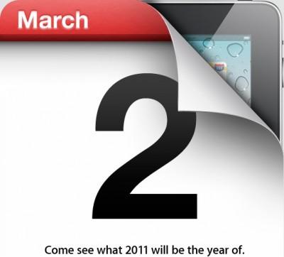 iPad 2 Keynote Einladung