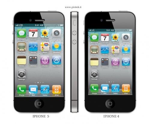 iPhone 5 Front im Vergleich mit iPhone 4