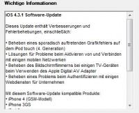 iOS 4.3.1 Neuerungen