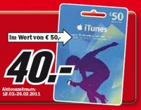iTunes Karten Aktion Media Markt