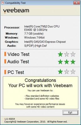 Veebeam Compatibility Desktop