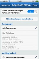 Geizhals Preisvergleich App: Filter