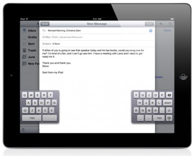 iOS 5: Geteilte Tastatur beim iPad