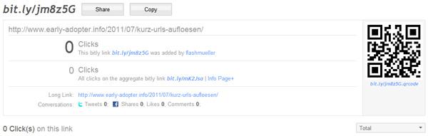 bit.ly Kurz-URL Statistik