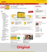 DHL-Packstation Original-Seite