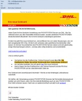 DHL-Packstation Phishing-Mail
