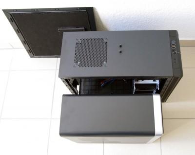 Fractal Design Define Mini / Asus TM-210 Größenvergleich