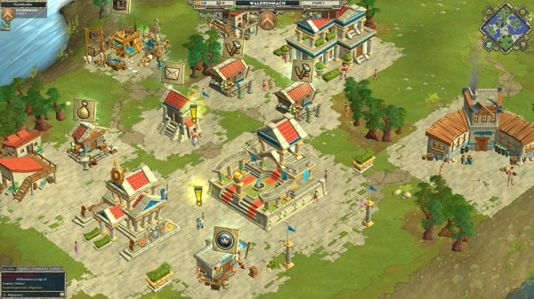 Age of Empires Online: Screenshot der Hauptstadt