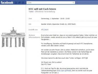 HTC Event in Berlin