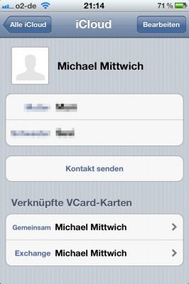 iPhone 4S iCloud Kontakt