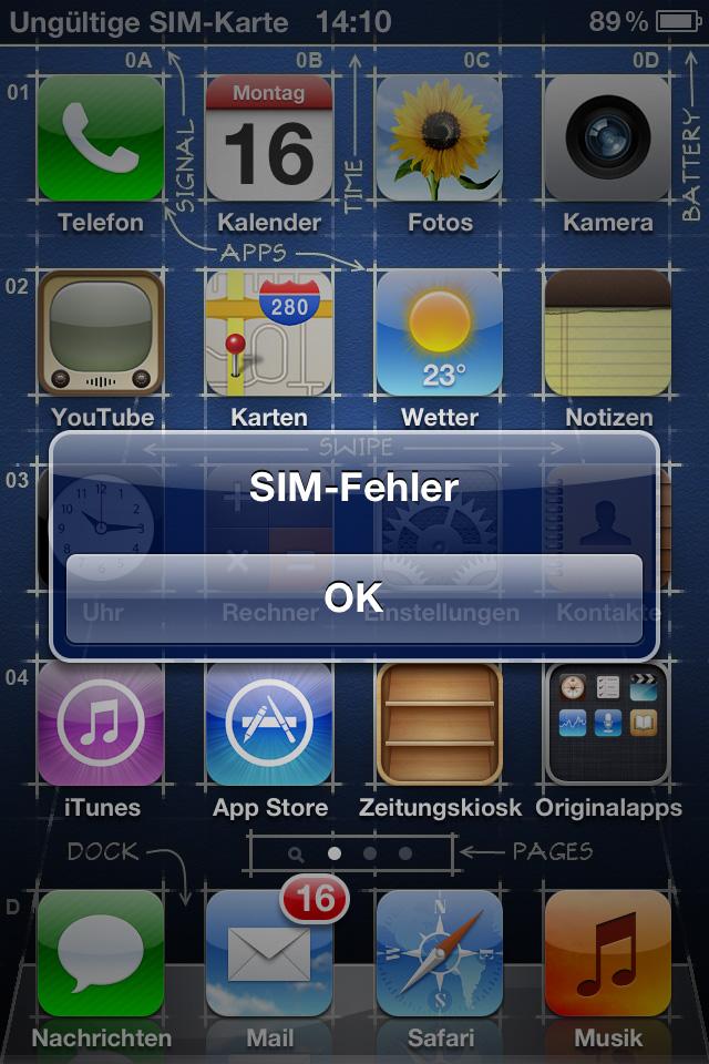 IPHONE 4 ERKENNT SIMKARTE NICHT NACH WIEDERHERSTELLUNG
