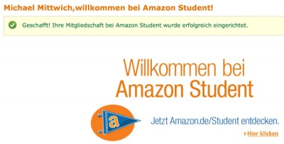 Amazon Student Studentenrabatte