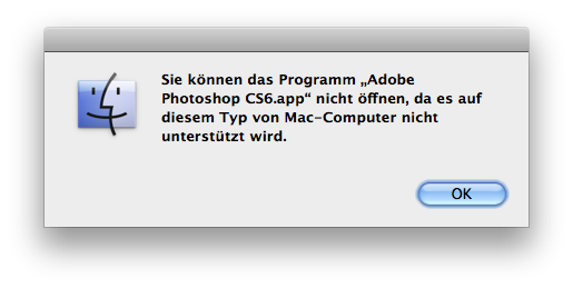 Photoshop CS6 Beta auf 32-Bit Mac