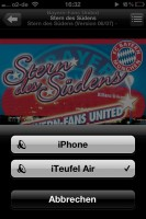 iTeufel Air Auswahl am iPhone