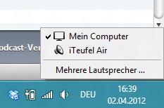 iTeufel Air Auswahl in iTunes