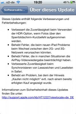 iOS 5.1.1 Änderungen