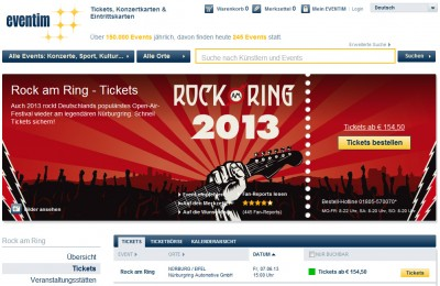 Rock am Ring Tickets bei Eventim