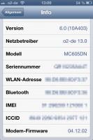 iOS 6 auf dem iPhone 4