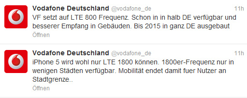 Vodafone bei Twitter