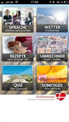 VisitDenmark App: Übersicht